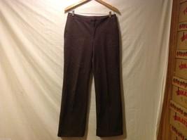 Grace Dane Lewis Womens Dark Brown Pants, Size 10