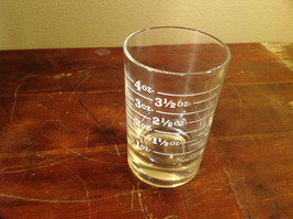 Graduated Clear Jigger Glass 4 Ounces Clear Recessed Bottom for Stability image 1
