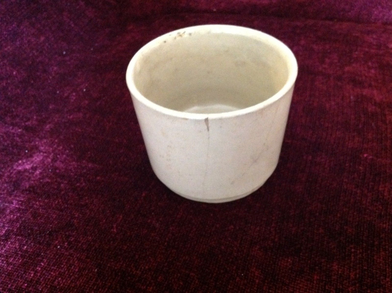 Gray Large Ceramic Bowl Jar No Lid