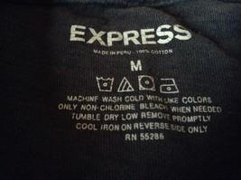 Express Black T Shirt Gray Design on Front 100 Percent Cotton Soft Size Medium image 7