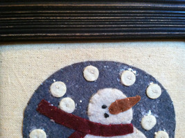 Fabric Stitching Picture - Snowman in Believe Snow Globe Christmas Decor image 3