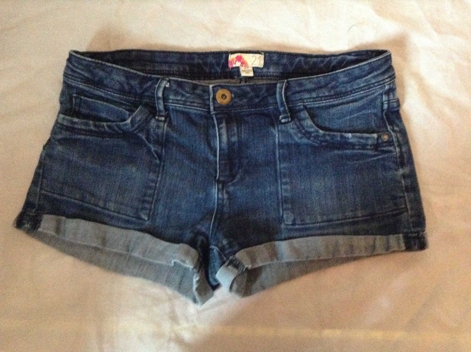 Forever 21 Jean Shorts Cuffed Bottom Size 29