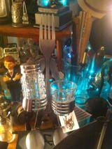 Forked Up Art Tequila Kit holder party shot for one fork man USA made image 1