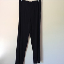 Forenza Black Stretchy Waisted Dress Pants 100 Percent Polyester Size Large