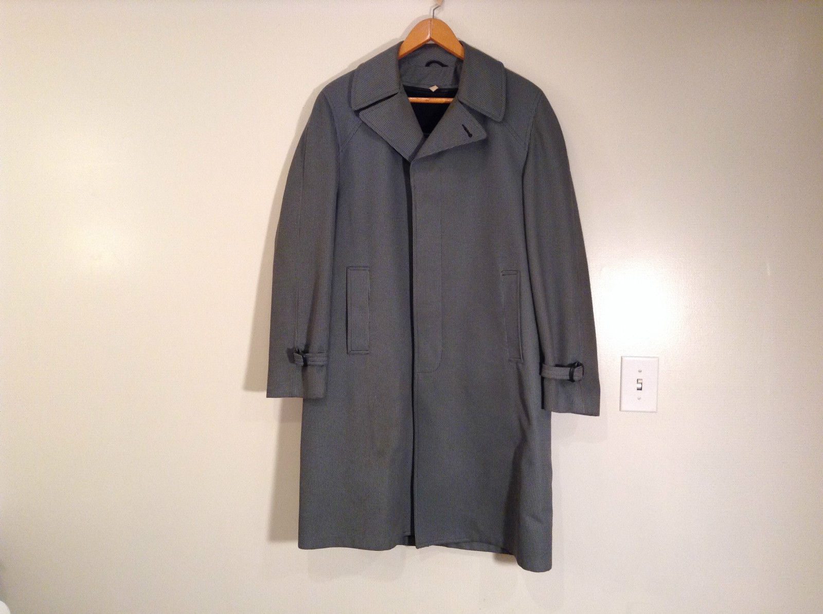 Gray Vintage Coat with Faux Fur Removable Lining Juilliard Size 42 Long