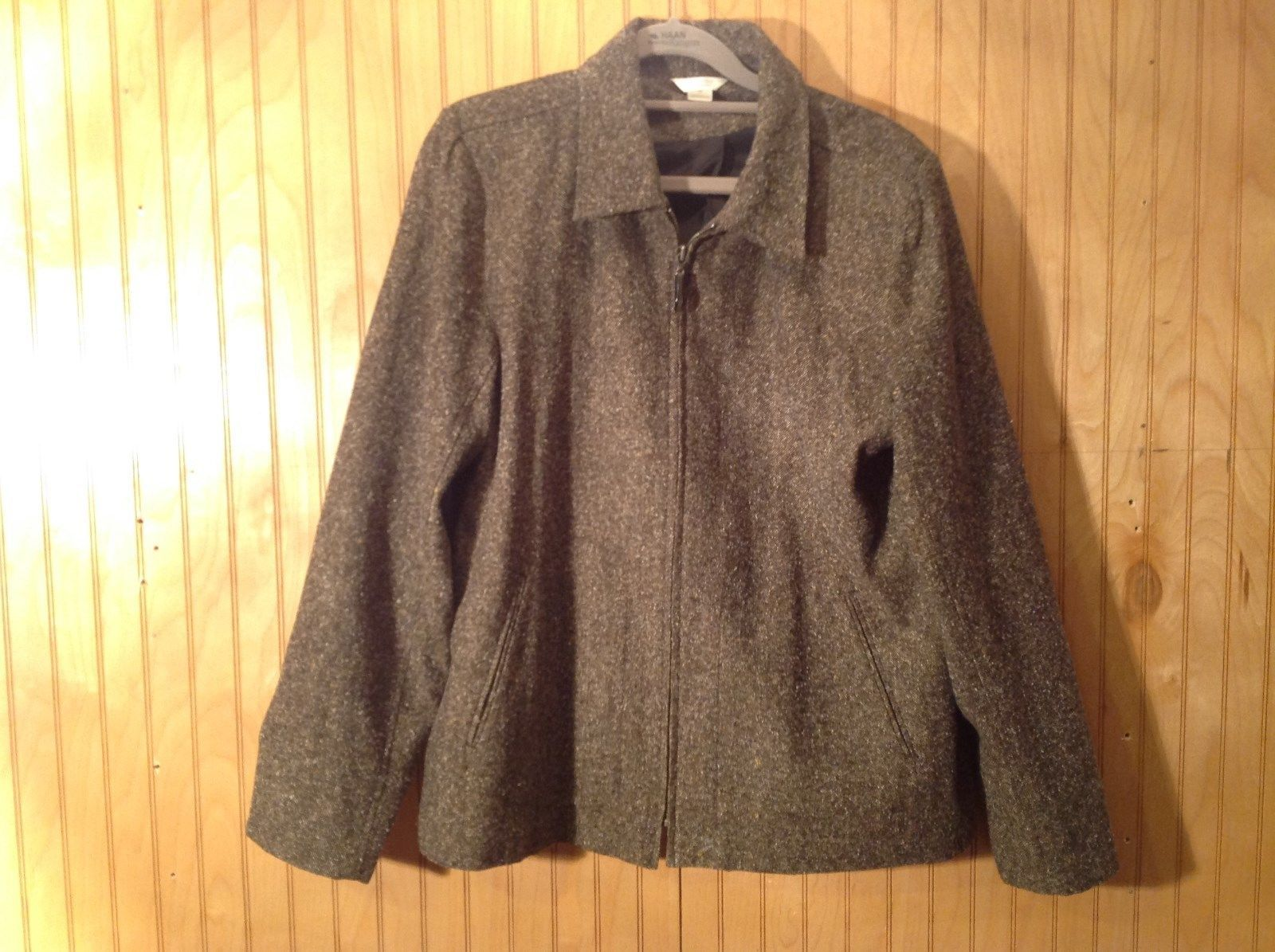 Gray Zipper Front Lined Jacket Christopher and Banks Adjustable Back Size Medium