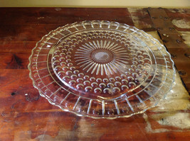 Flat Large Glass Tray Relief on Bottom Bubbles Great for a Party Platter