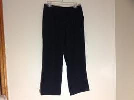 George Stretch Boys Black Pinstriped Dress Pants Front Pockets Size 10 Average image 2