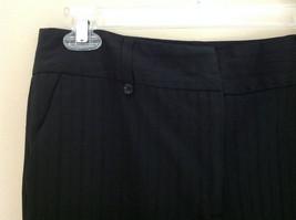 George Stretch Boys Black Pinstriped Dress Pants Front Pockets Size 10 Average image 3