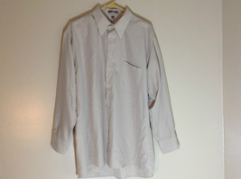 Geoffrey Beene Tan Mens dress shirt long sleeves pockets on front size XL image 2