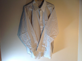 Geoffrey Beene White Long Sleeved Button Up Wrinkle Free Dress Shirt Size 17.5 image 2