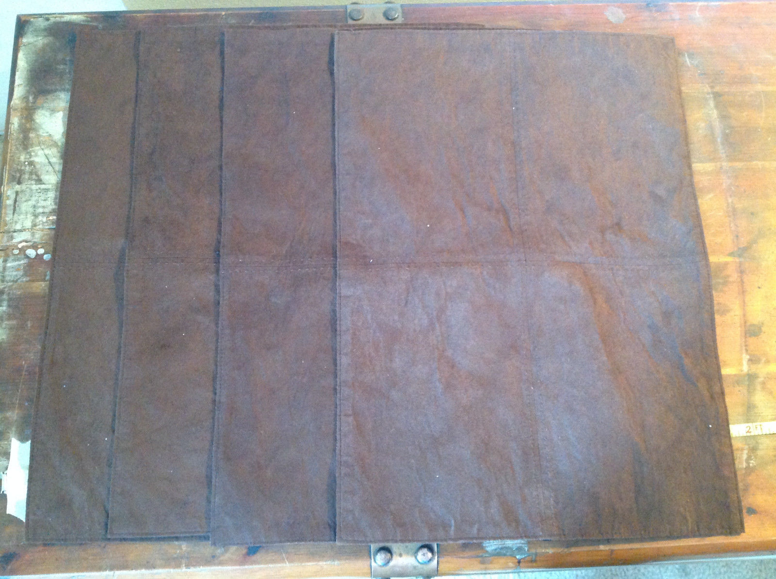Four Brown Suede Like Material Dinner Placemats Very Sturdy Material