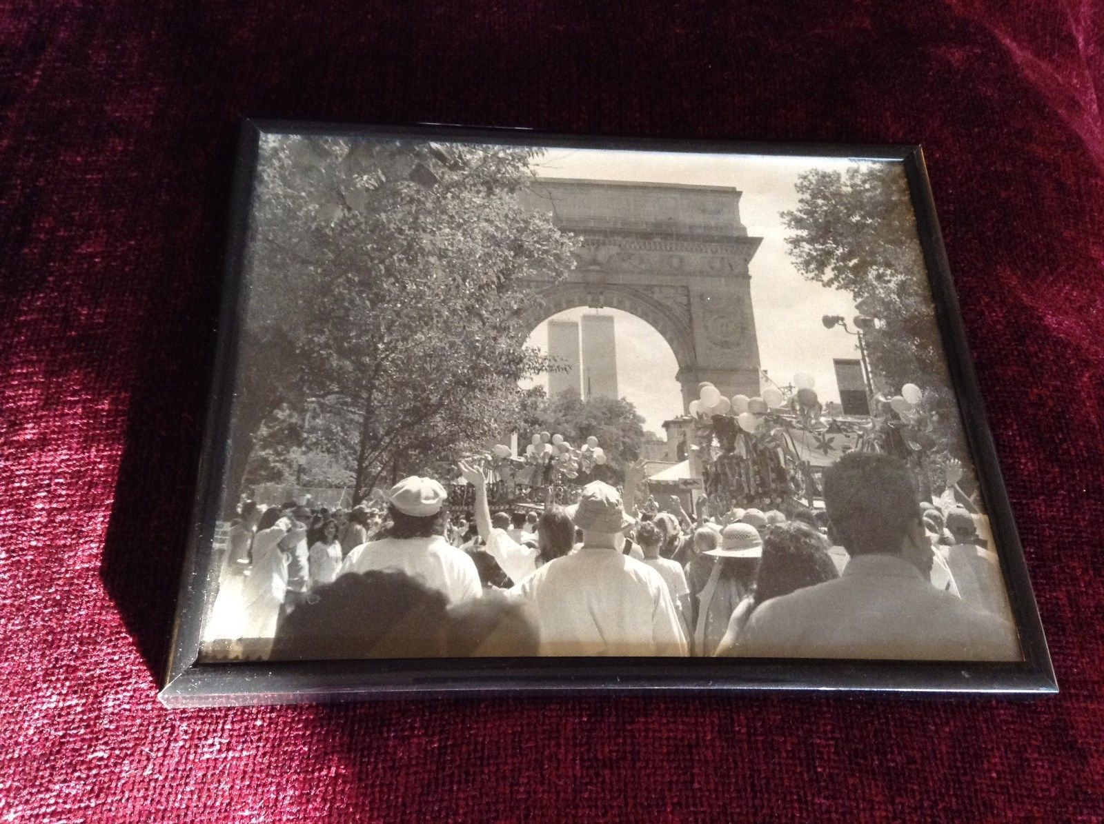 Framed Black and White Photo World Trade Center NYC Signed by Photographer