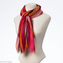 Fashion scarf  orange pink multicolored scarf image 2