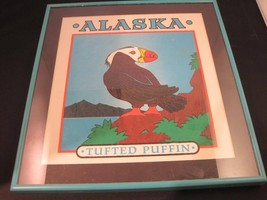 Framed Painting of an Alaska Tufted Puffin