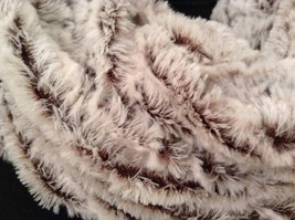 Fashion infinity faux fur 2 tone scarf warm cozy choice of accent image 7