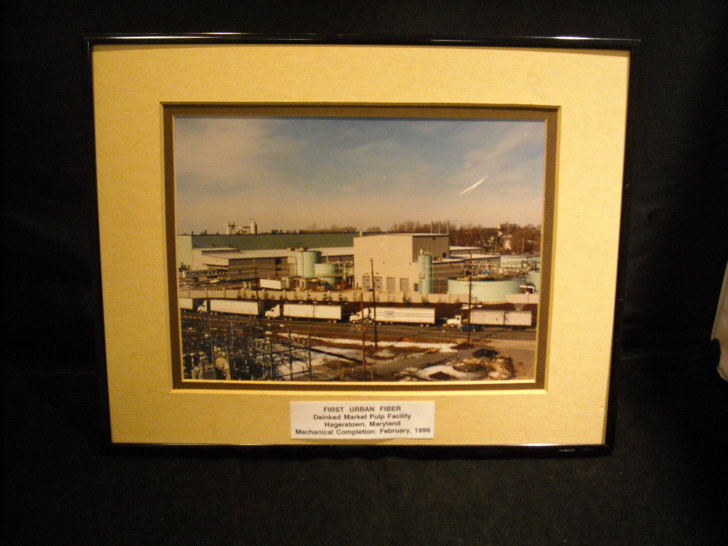 Framed Photo of First Urban Fiber Deinked Market Pulp Facility FINAL SALE