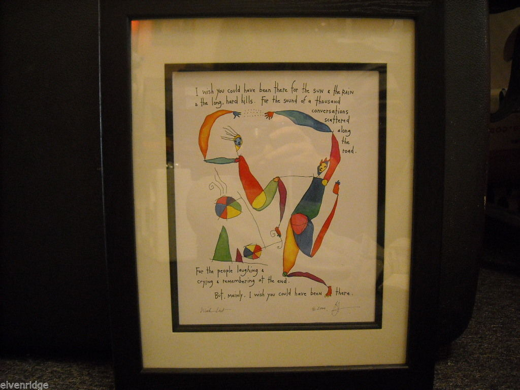 "Framed original artwork called ""Wish List"""