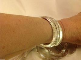 4 steampunk micro mini silver square metal element shiny dull mobile bracelet image 4