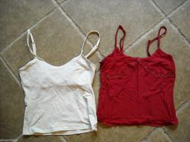 4 tank tops 2 long sleeve shirts 1 pair shorts size small women's Gap Jones NY + image 2