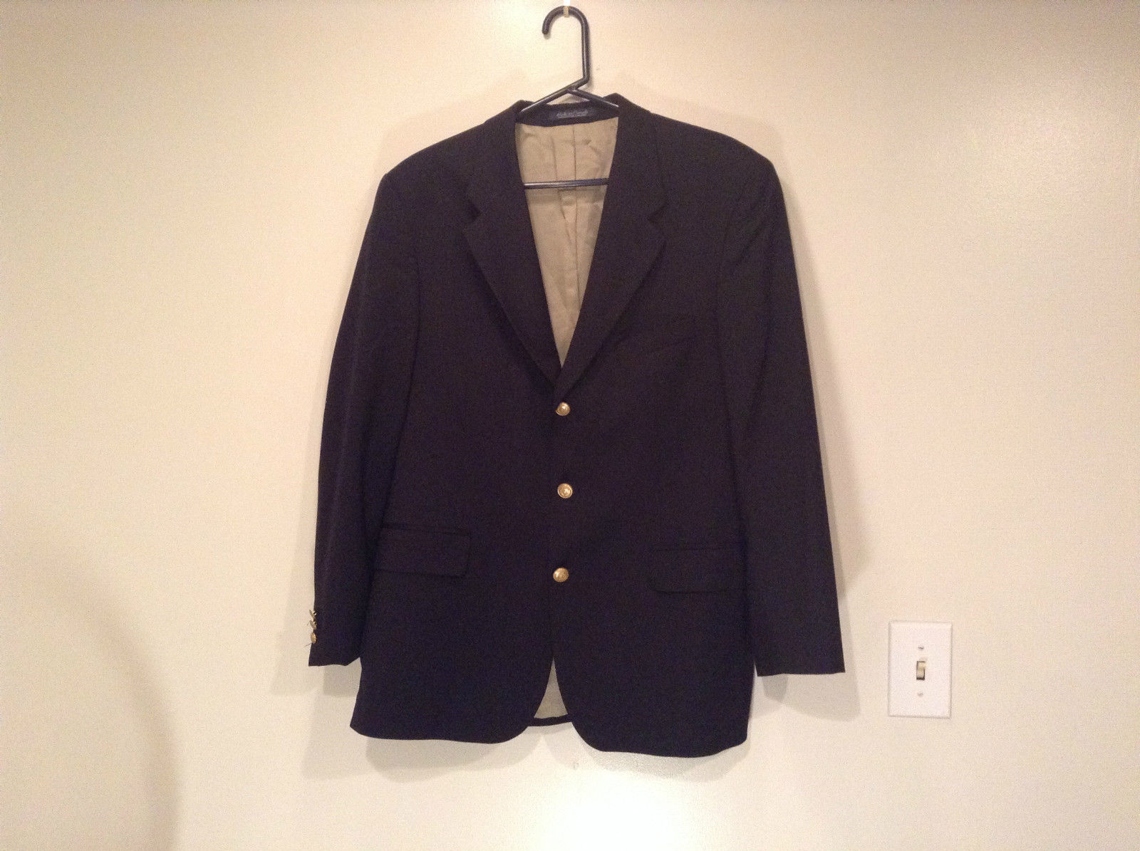 Franco Tassi Dark Blue Wool Fully Lined Blazer Suit Jacket Size 42R