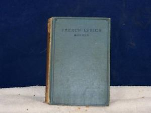 French Lyrics by Canfield printed 1925