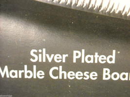 Godinger Silver Plated Palm Tree Design Marble Cheeseboard with Cheese Knife image 2