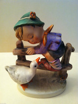 "Goebel Hummel ""Barnyard Hero"" #195 Figurine - West Germany Stamped image 2"
