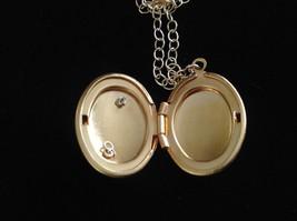 Gold Locket w Initial Monogram Riveted Necklace Adjustable Zina Kao Choice image 2