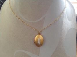 Gold Locket w Initial Monogram Riveted Necklace Adjustable Zina Kao Choice image 7