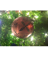 Frosted Hand blown large heirloom glass Christmas ornament in Vintage Red - $65.83