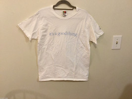 """Fruit of the Loom """"It's a good thing"""" 100% Cotton T-shirt, White, Size M (8-10)"""