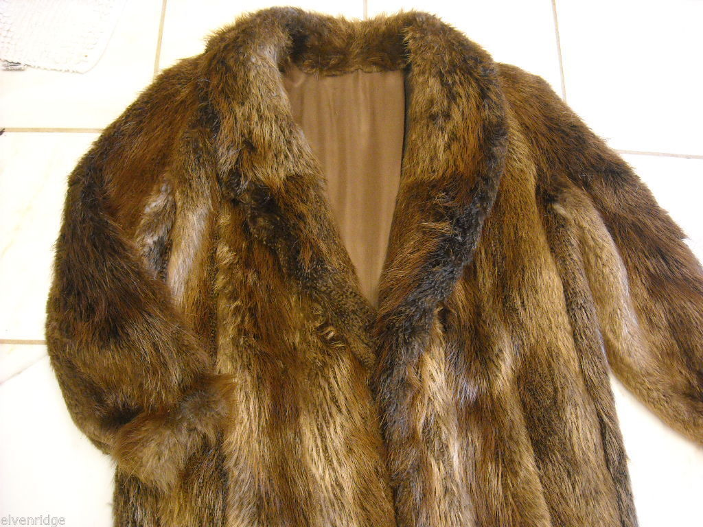 Full length Long hair Beaver coat