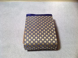 Gold with Purple Compact Zipped Up Purse Buttoned Together image 4