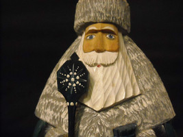 Hand Painted Wood Russian Christmas Santa  De Brecht Collection Good Condition
