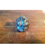 Hand Carved Vintage Wooden Monk w Face in Hands Figurine Hard Dark Wood - $148.49