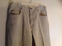 Five Pocket Arizona Khaki Jeans Zipper Button Closure Classic Fit Size 34 by 30 image 2