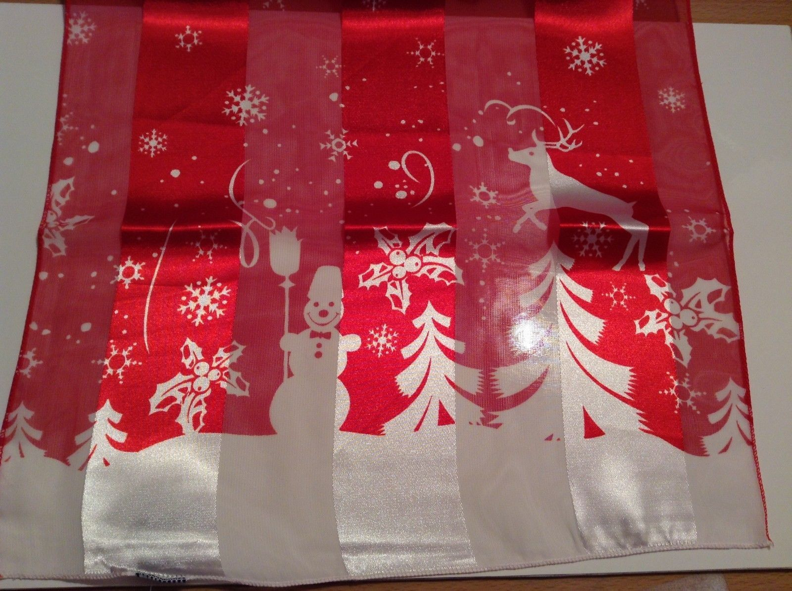 Fun Snowflake reindeer holly snowman silky dress scarf color choice NEW