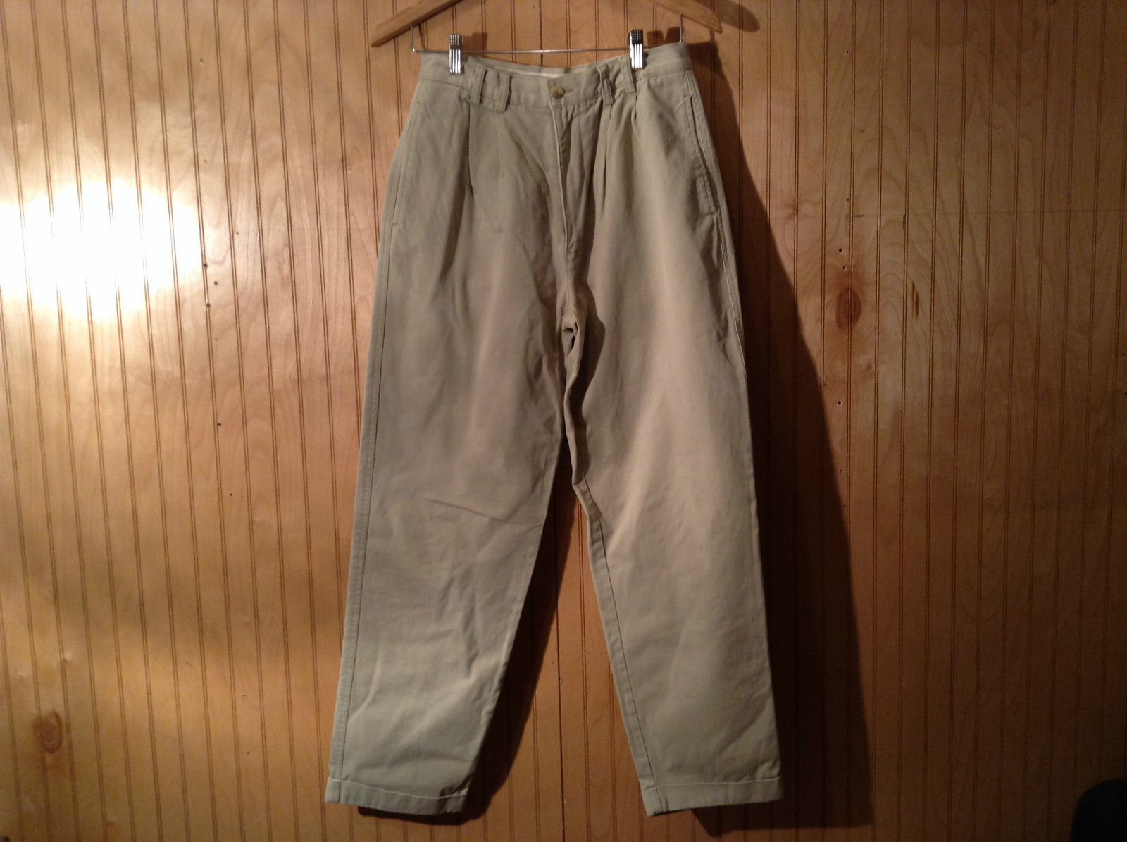 G H Bass and Company Gray Tan Khaki Casual Cotton Pants Size 29 by 30
