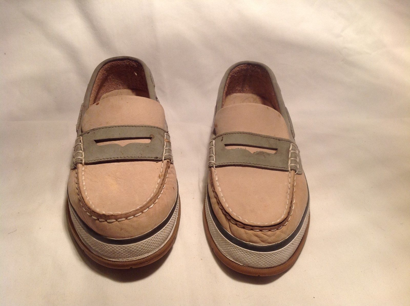 G H Bass and Company Size Eight and a Half Tan Loafer Leather with Rubber Sole