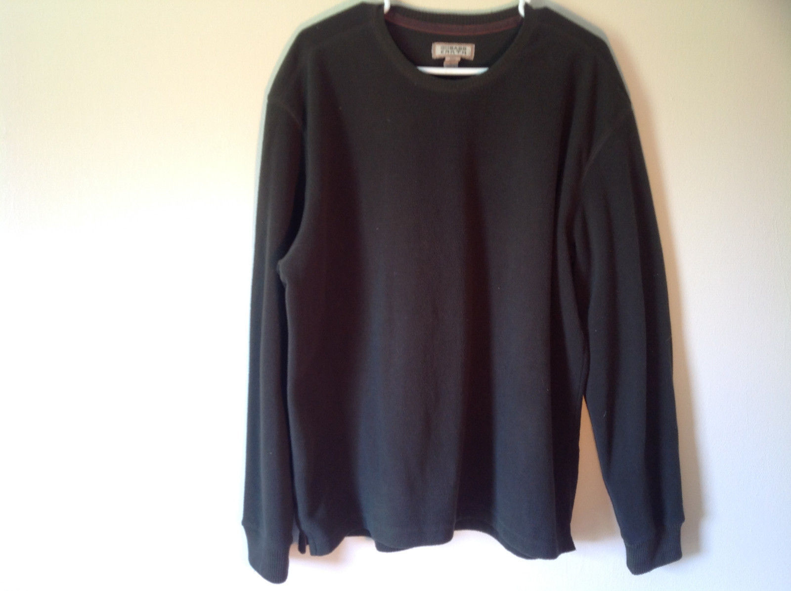 G H Brass Earth Green Micro Fleece Long Sleeve Sweatshirt Size Large