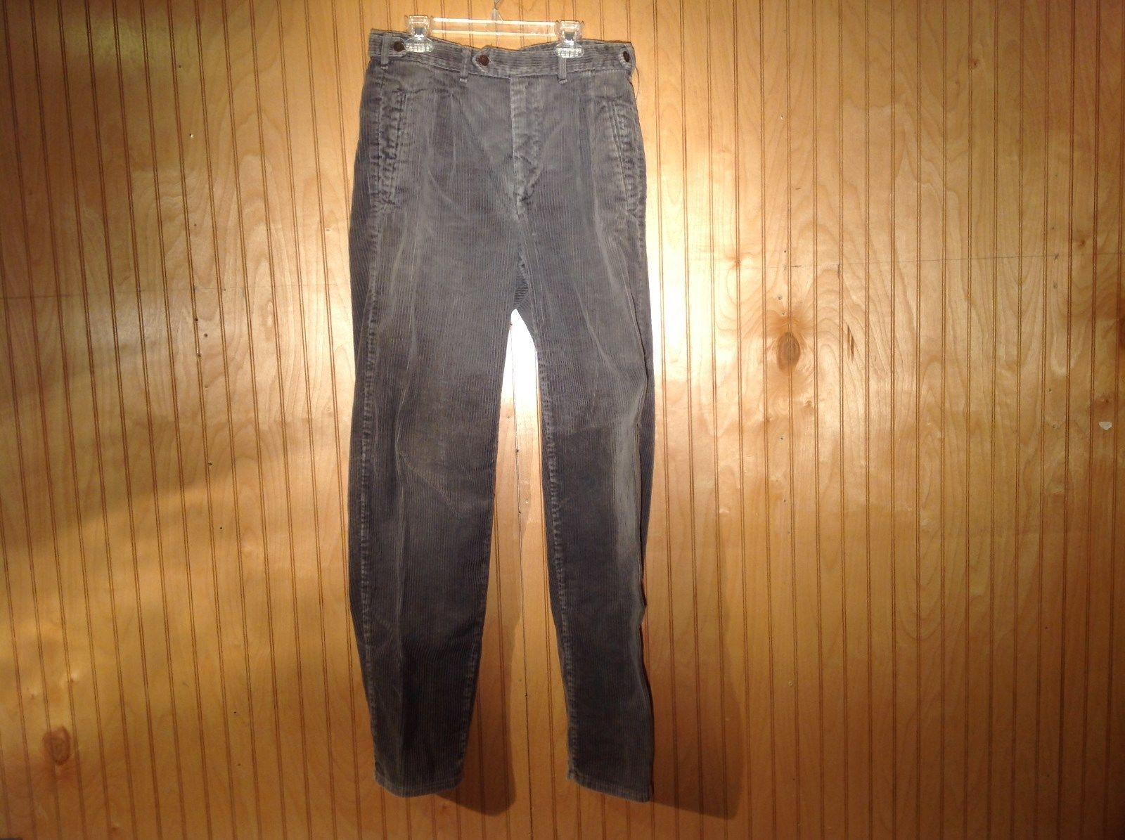 GAP Gray Corduroys Pants No Size Tag Measurements Below Front Back Pockets