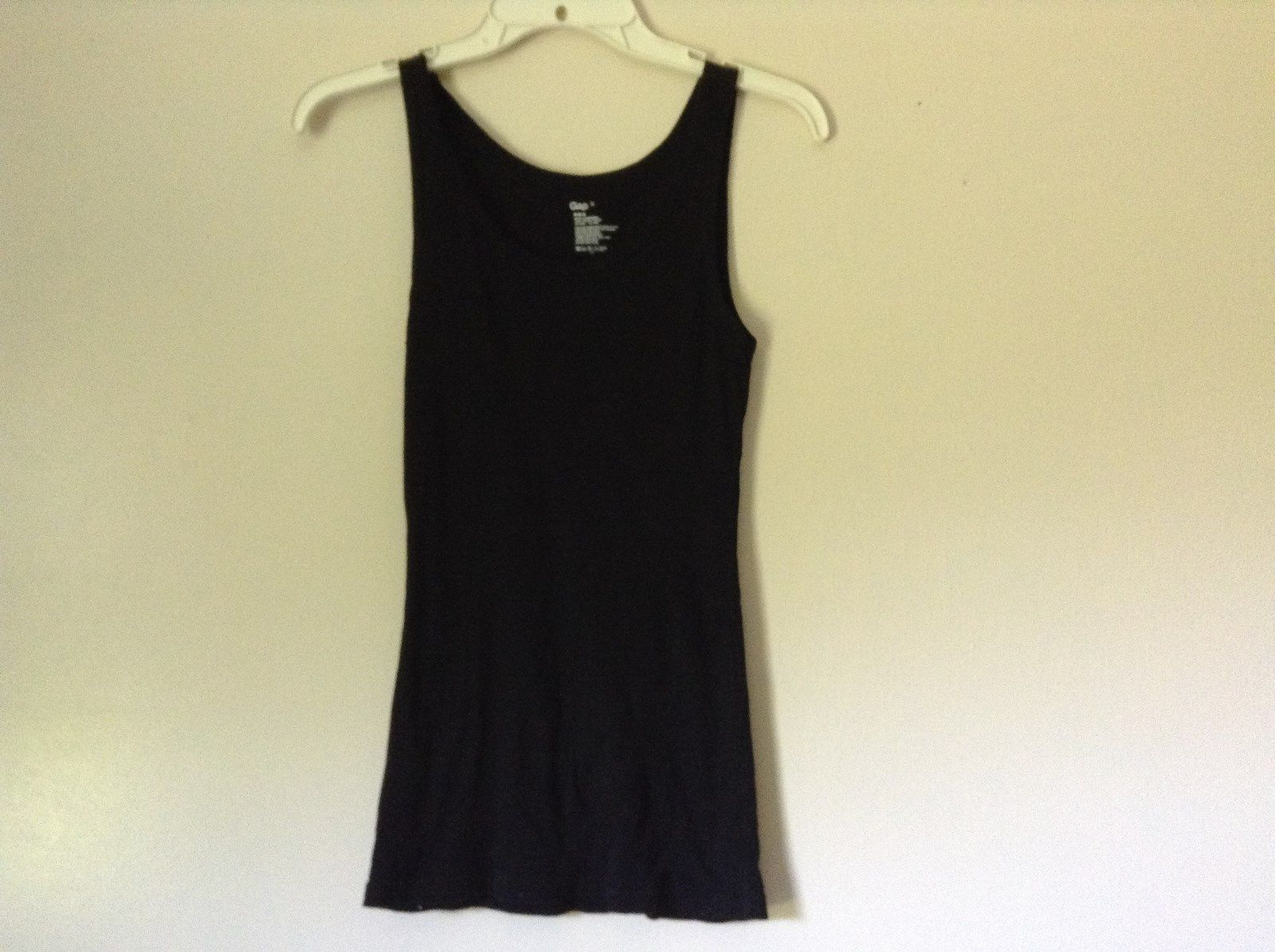 GAP Black Tank Top Size Small 100 Percent Cotton