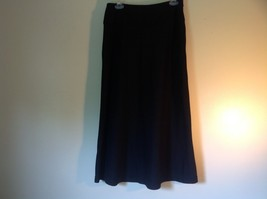 Focus Lifestyle Black Long Skirt Size Small Side Zipper Closure image 2
