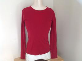 GAP Red Basic Long Sleeve Shirt Size Medium image 1