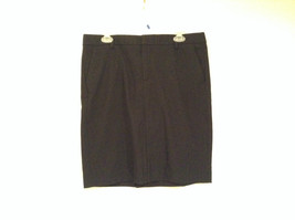 GAP Size 12 Stretch Black Skirt Excellent Condition Side Pockets One Back Pocket