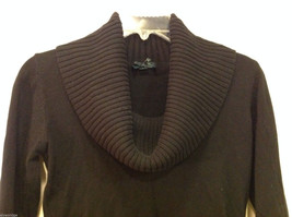 Forever 21 Slouch Cowl-Neck Black Long Sleeve Pullover Sweater, size S image 3