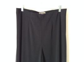 Forenza Black Stretchy Waisted Dress Pants 100 Percent Polyester Size Large image 2