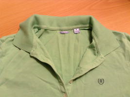 Green IZOD Size M Three Quarter Length Sleeves Collared Polo Top image 8