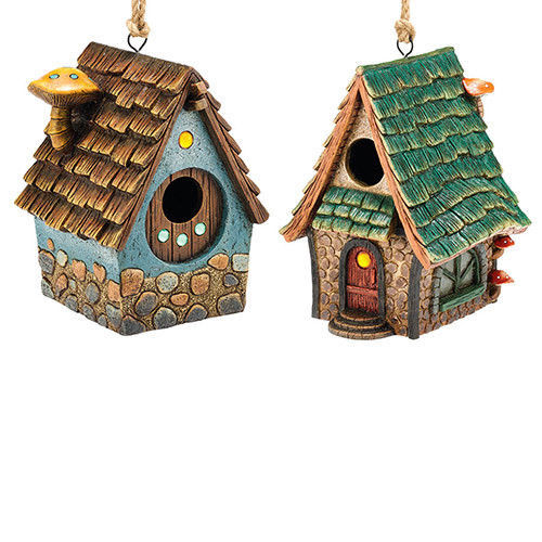 Garden Guardian Birdhouse Department 56 Choice of Green or Brown Roof - $49.49